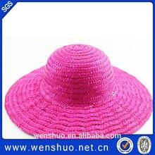 Wholesale Short Brim Braid Fashion Womens Straw Hat For 2015