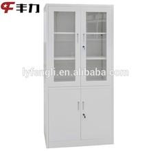 Lockable glass door photography equipment storage cabinet