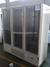 display cooler with glass doors