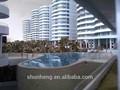 3D de arquitectura de diamantes de la playa del Hotel exposición modelo