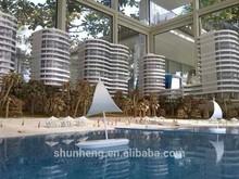 3D Architectural Diamond Beach Hotel Resort Model