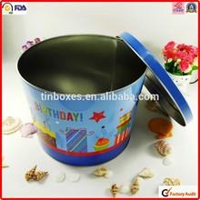 food packing factory wholesale metal popcorn tin box size