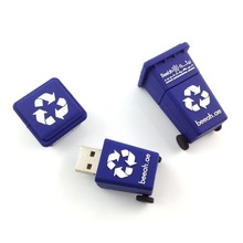 Gifts memorias usb plastic for kids garbage can pen drive