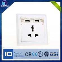 Dual USB universal wall usb wall socket eu