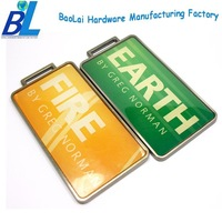 Customized brand logo hanging tag for golf bags