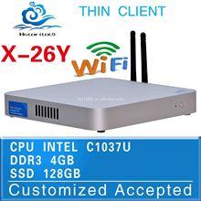 low price industrial pc fanless mini computer pc pc mini windows x26y c1037u support Monitor,Printer
