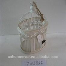Handmade small oval wooden bird cage cheap