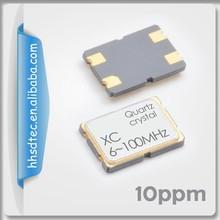 XC Type 7.0 x 5.0 mm SMD Quartz crystal 100 mhz