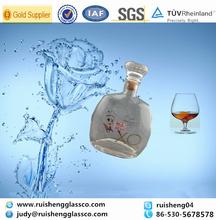 Customized pear brandy glass bottle