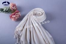 silk cashmere twill woven pashmina white