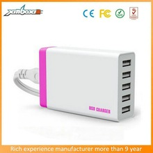 5V 8.0A 5USB wireless charger super capacitor portable desktop chargerfor mobile phone/ipad/samsung/laptop