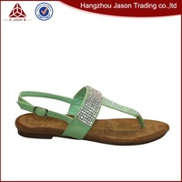 Good quality sell well fashion flat summer sandals 2014 for women