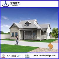 luxury prefab steel structure villa