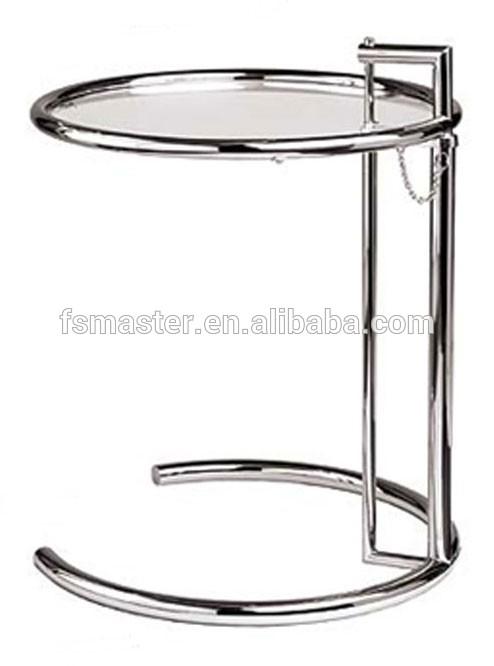 glas beistelltisch replik eileen gray beistelltisch zwei. Black Bedroom Furniture Sets. Home Design Ideas