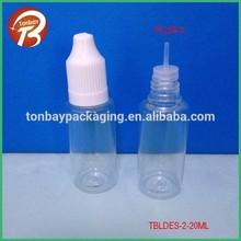 20ml PET plastic dropper bottle for eliquid E juice eye dropper bottle