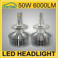 super bright led headlight h7 6000LM 50w led light phillip chips