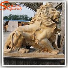 2015 chinese big stone lion statue ranite brass lion statue fiber glass statue