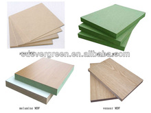wooden grain melamine mdf board Ever Green MDF