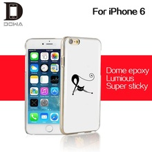 dome epoxy anti scratch cell phone case for iphone6