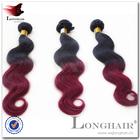 wholesale body wave cheap virgin fusion extension ombre color hair extensions brazilian ombre hair