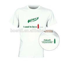 RPET new white comfortable/popular advertising/promotional men's polo T shirt