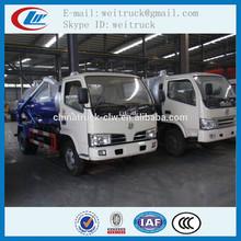 Fábrica de venda 3m3 4 x 2 líquido de resíduos de sucção a vácuo caminhão