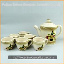 Hot Sale Top Quality Best Price 2015 New Design unique ceramic teapots handcraft white