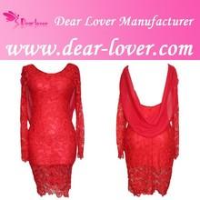 2015 wholesale elegant red sash bow lace wedding dress
