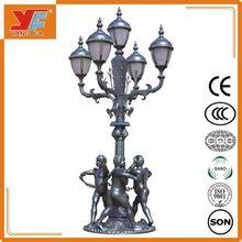 Vintage European style cast iron garden lamps