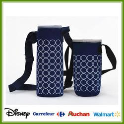 2015 High quality Adjustable Neoprene Bottle Holder, wine cooler bag Neoprene ,Bottle Holder