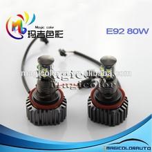 Factory wholesale 8-32V 80W NO error led ring lights led Marker Bulb C ree XML Chip led Angel Eyes