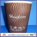 el logotipo de café de papel desechable taza de bebida