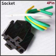 auto 4 pin 5 pin relay 12v 24v 30a 40a 80a car relay socket