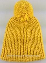 new fashion knitted baby flat brim cap