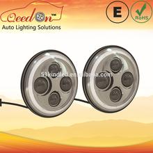 Qeedon 7inch LED Round ECE E-mark DOT auto headlight for HONDA for CRV 1995 headlight with turning light for Mahindra thar