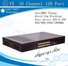 reduce sim blocked 16-128 goip sms server, easy customs clearance 16 channel sim box