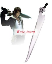 Rose-team Fantasia Anime Cosplay Made Final Fantasy VIII Squall Leonhart Wihte Gun Blade Cosplay Wooden Weapons