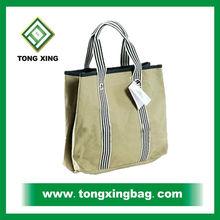 Factory made cheap canvas cotton woman handbag