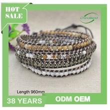 Chinese fashion bracelets 2015, wrap around bead bracelet for men