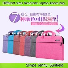 10 ~15.6 inch laptop sleeve neoprene laptop bag with handle ,neoprene laptop messenger bag