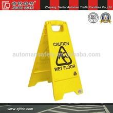 Plastic wet floor caution board