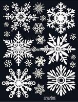 Popular Christmas Snowflake Stickers/Christmas Vinyl Decorations Window Stickers