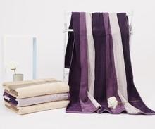 Sandy Thick Satin Comfort Nature Cotton Striped Hotel Bath towel