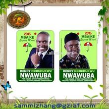 Electoral paper air freshener Nigeria , campaigh air freshener ,paper cardboard air freshener