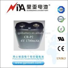 LiMnO2 BATTERY 6V 1700mAh CR-P2 battery