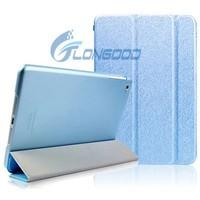 New Translucent Silk Print PU Leather Smart Foldable Case For Ipad Air 2 iPad 6
