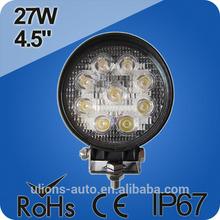UL-0627 China Factory! led work lamp 24v waterproof new 27w car led tuning light led work light