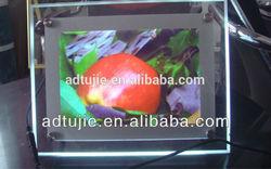 A3 size Ultra thin acrylic led lighted photo frame