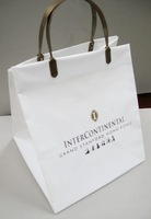 Plastic Bag Hard Loop Handle Custom Printed Plastic Bag