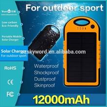 Fashion !! 12000mah 5000mah Waterproof solar charger case for ipad mini 5v